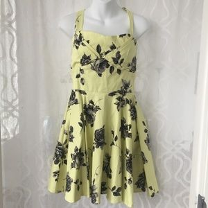 Ixia Yellow Traveling Cupcake Floral Dress